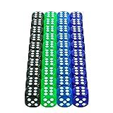 EKKONG Set di dadi colorati da 6 lati, dadi colorati per giocare, 4 colori (40 pezzi)