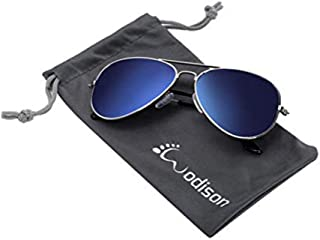 WODISON Classic Kids Aviator Sunglasses Reflective Metal...