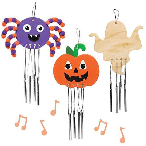 Baker Ross Halloween-Windspiele, aus Holz, 4 Stück, für Kinder, Halloween, Basteln und Dekorationen