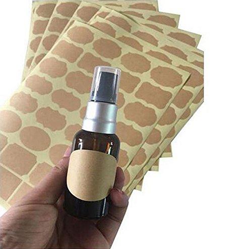 Etiquetas adhesivas para botellas de aceite esenciales, tarros de masón o contenedor de almacenamiento de alimentos, 6 hojas (192 unidades), varios tamaños