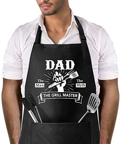Divertidos delantales de barbacoa para hombre, diseño de Papá el hombre, el mito The Grill, Día del padre, novio, marido, padre,...