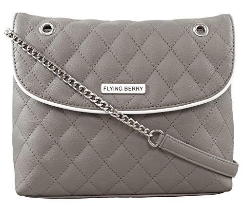 Flying berry womens sling bag (Grey)