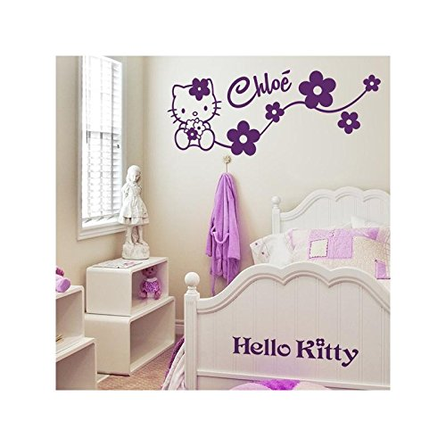 Sticker Personnalisable Hello Kitty - Gris Clair, Orientation - Normal, Taille - 80 x 30 cm