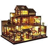 DIY Puppenhaus Kit, 3D Puzzles Holz Miniatur Puppenhaus DIY Kit, Spieluhr Frauen und Mädchen Haus Handwerk Dekorationen Puzzle Montage Spielzeug
