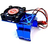 Hot Racing MH550TE06 Blue Multi Mount Fan Heat Sink 36mm Motors, Blue
