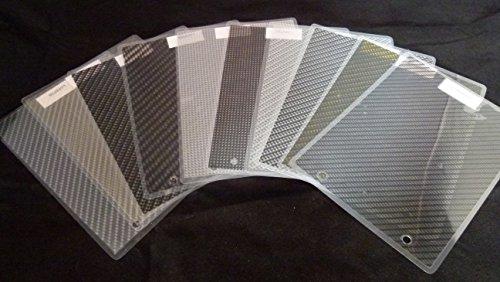 Wassertransferdruck Film Box Carbon Folie / 10 Top Designs Größe: DIN A3 Zuschnitte Wassertransferdruckfilm Folie
