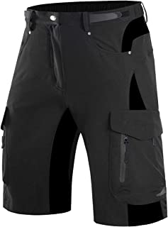 Wespornow Mountain-Bike-MTB-Shorts for Men Loose-Fit-Baggy-Cycling-Bicycle-Bike-Shorts