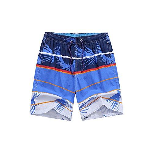 Deylaying Homme Maillot de Bain Natation Boxer avec Cordon Poche Impressions D'arbres Séchage Rapide Piscine élastique Surf Trunk Shorts Swimsuit