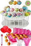 COMPLETE CAKE POP MAKER KIT - Jam packed with silicone cakepop baking mold, 120 lollipop sticks,...
