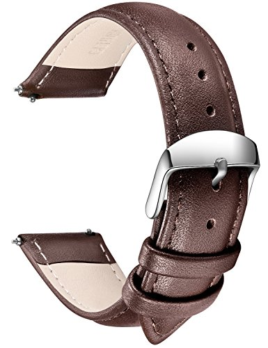SONGDU Quick Release Leather Watch Band, Full Grain Genuine Leather Replacement Watch Strap