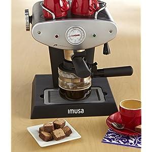 IMUSA USA GAU-18206 Gourmet Espresso/Cappuccino Maker 4-Cup, Silver
