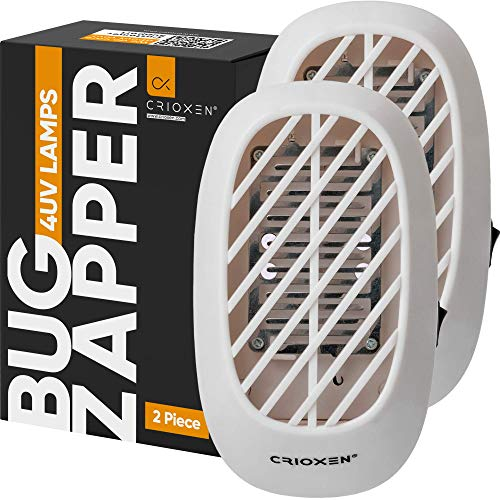 Indoor Plug-in Bug Zapper - Mosquito Trap - Indoor Mosquito Killer - Electric Insect Repellent - Gnat Trap for Mosquitoes Fruit Flies and Flying Gnats Pack of 2