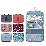 Gray Polyester Cosmetic Bag Bathroom Travel Makeup Bag Organizer Neutral Make Up Box Neceser Beauty Case Hanging Toiletry Bag