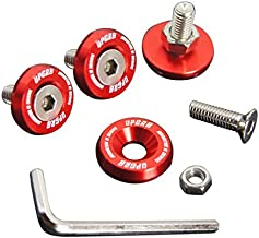 Upgr8 U8201-1002 Aluminum 10mm 4 Pieces Fender Washer Kit (Red)
