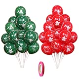Set de globos navideños Paquete de 40 globos de látex rojo y verde Globos de...