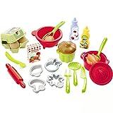 #1118 Puppengeschirr Backset 26-teilig mit Rührschüssel, Topf • Puppenservice für Kinderküche Spielküche Zubehör