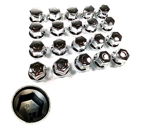 60pcs x 33mm tapas para tuercas de ruedas cromado ajuste para camiones Remolques