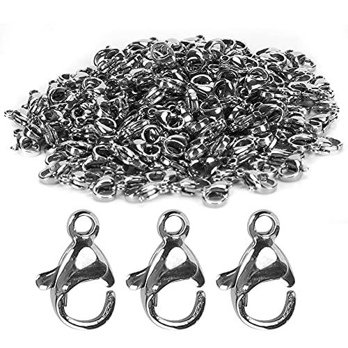 Hapivida 200 Uds Cierres de Garra de Langosta de Metal Sujetador Ganchos de Langosta 10x6mm para Joyería DIY Collares Pulseras Colgantes Suministros de Fabricación