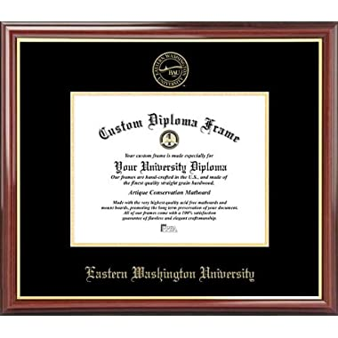 Eastern Washington University Eagles - Embossed Seal - Mahogany Gold Trim - Diploma Frame