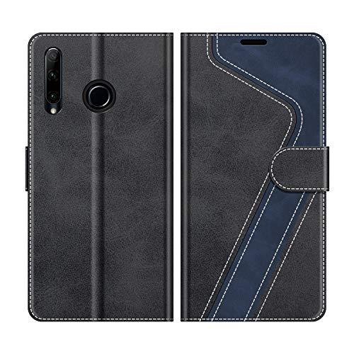 Handyhülle für Huawei P Smart Plus 2019, Honor 20 Lite Hülle Leder, Huawei P Smart+ 2019 Klapphülle Handytasche Case für Huawei P Smart Plus 2019 / Honor 20 Lite Handy Hüllen, Schwarz