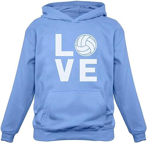 Toddler Little Boy Love Volleyball Hoodie Sweatshirt 5//6, Royal Blue