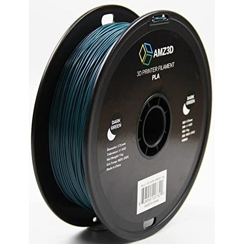 - Dimensional Accuracy +//- 0.03mm AMZ3D PLA-1.75-Black-1kg 2.2 lbs 1kg Spool 1.75mm Black PLA 3D Printer Filament