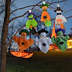Hallowmas Party Supplies,It is easy to hang anywhere you want, you can use it as indoor decoration and hang it on the wall or your front door, you can also hang it outside on the trees with some other Halloween decors. Doll length: 35cm/13.78inch; Wi...