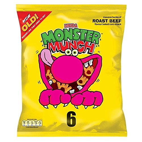 Monster Munch Roast Beef Snacks 22g X 6