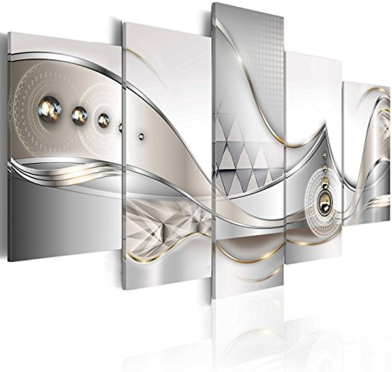 Murando - Acrylglasbild Abstrakt 100x50 cm - 5 Teilig - Bilder Wandbild - modern - Decoration - Blaumen b-A-0073-k-o