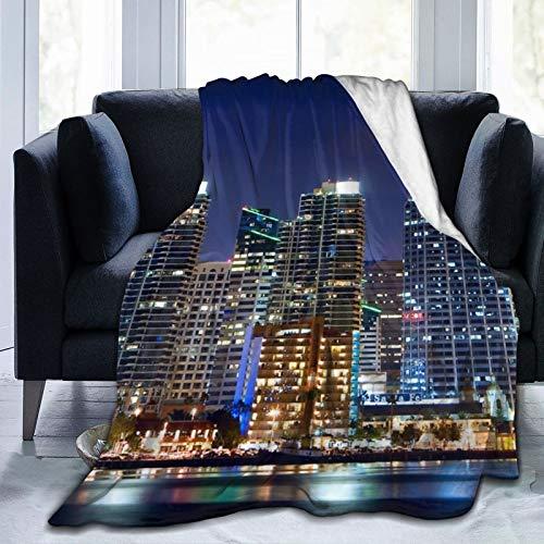 Affordable shop Dovntovn San Diego Buildings Fleecedecke für Bett, Couch, Sofa, Büro, Camping, 127 x 152,4 cm