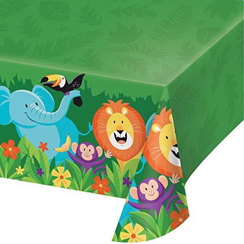 Jungle Safari Plastic Tablecloths, 3 ct