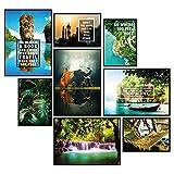 GREAT ART® Stimmungs-Poster Set Thailand | 8 Stilvolle