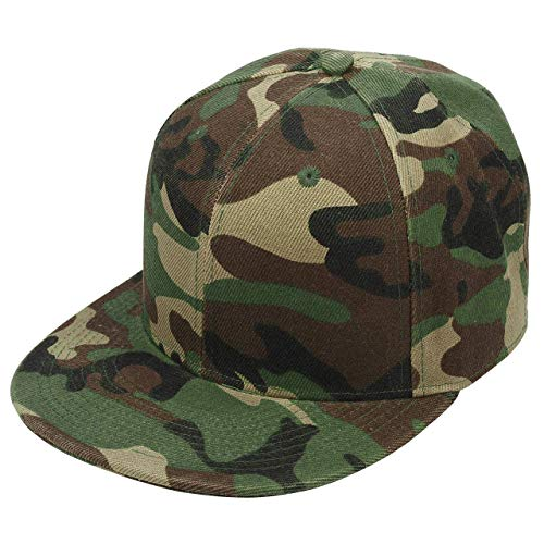 Faleto Casquette Camouflage Militaire Vert Baseball Cap Sport Femmes Coton Tissu Respirant Outdoor Casual - Taille 56-60