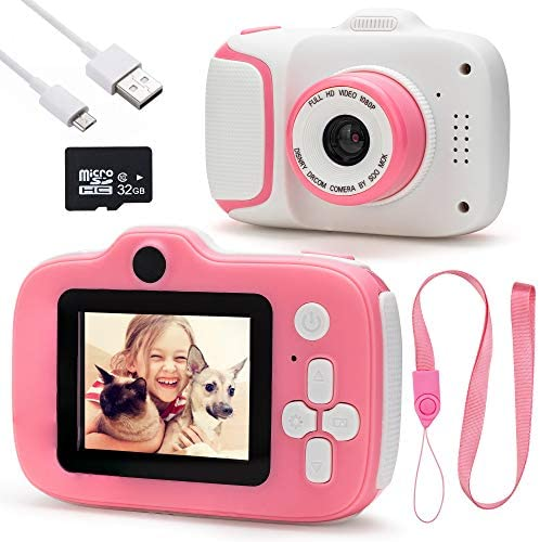 Kids Selfie Camera Birthday Gifts for Girls Age 3 12 Pink Kids Camera for Toddlers 3 4 5 6 7 product image