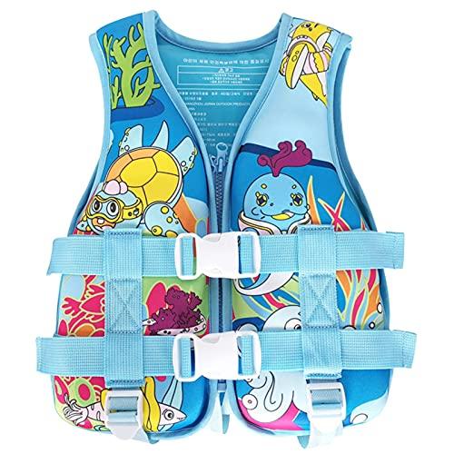 Q-YR Chaleco Profesional Chaleco Salvavidas Niños Deportes De Agua Chaleco De Seguridad con Flotabilidad Ajustable para Nadar, Navegar, Buceo,Azul,XS