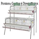 Bateria GALLINAS PONEDORAS 6 departamentos. Capacidad 30 gallinas. Medidas 155 x 110...