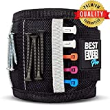 BEST EVER Pro Magnetic Wristband with Strong Magnets & Pockets to Hold Screws, Nails, and Plastic Tools. Amazing Helping Hand for Your DIY Projects. Best Gifts for Men, Birthday, Father, Dad, Women