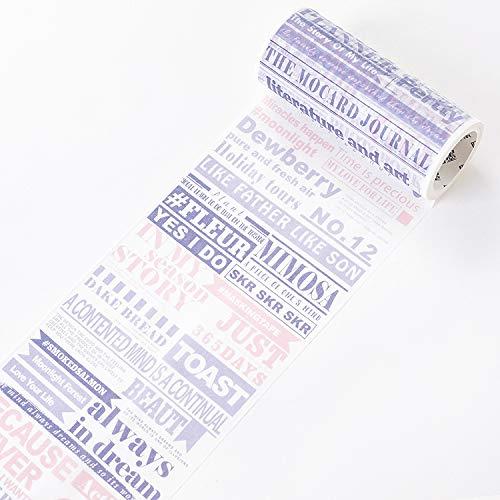 JIAODIA Dekoratives Washi Tape Die Welt SAGT,Serie 10 cm breites Papierband voller Umfang Retro englische Wörter Reisen Hand Konto Dekoration Aufkleber
