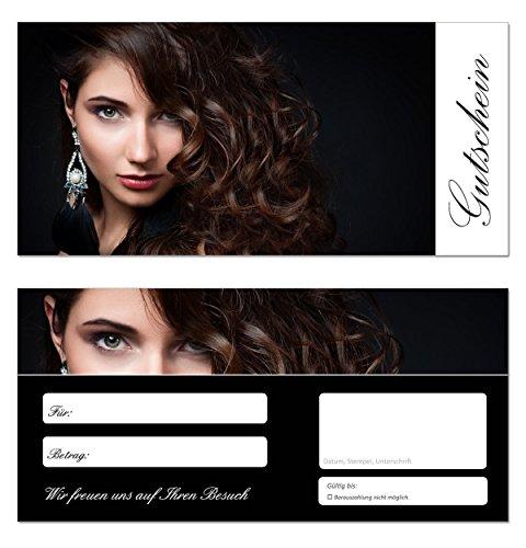 100 Stück Geschenkgutscheine (Friseur-658) - Gutscheinkarten Frisör Gutscheine Haarstudio Haarpflege Wellness Schönheit Hairstylist Haircutter Barbier Coiffeur Haare Färbung Tönung