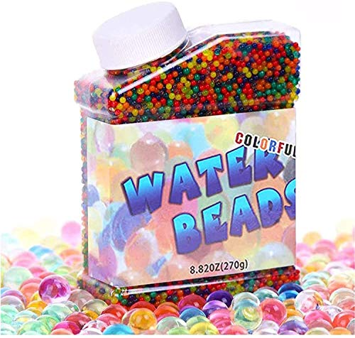 Water Beads,Colorful Water Crystal Beads Balls Gel Soil Jelly Water Gems Vase Filler for Plants Home Decoration(50,000 Pcs)