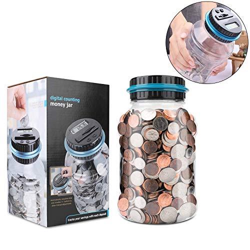 Sunshine smile Geld sparen Box digital,automatischer münzzähler,spardose mit LCD-Display,spardose zähler münzen,digital Piggy Bank,münzen zählwerk (Euro)