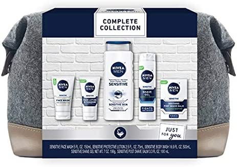 NIVEA MEN Complete Skin Care Collection for Sensitive Skin 5 Piece Gift Set product image