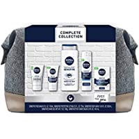 Nivea Men's 5-Piece Complete Skin Care Collection With Travel Bag