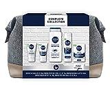 NIVEA MEN Complete Skin Care Collection for Sensitive Skin, 5 Piece Gift Set