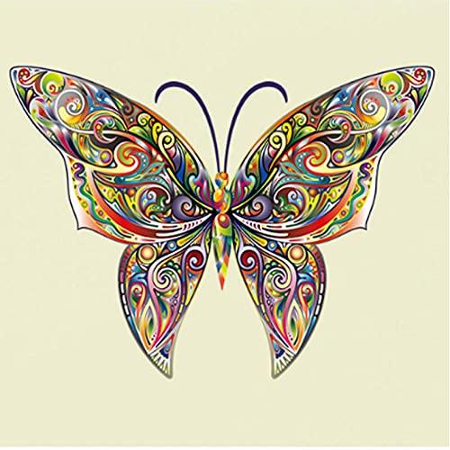 Wuixisajjh Colorido 3D Diseño De Mariposa Pared Arte Calcomanía Decoración De Pared Calcomanías Para Sala De Estar Dormitorio Tv Sofá Decoración De Fondo Mural