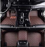 LCRAKON Alfombrillas De Coche De 3 Piezas para Maserati GranTurismo Ghibli, Custom Faux Leather All Weather Waterproof Totalmente Rodeado Alfombras Antideslizantes para Pies 3D 7 Colores Disponibles