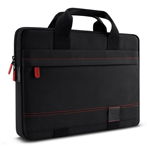 Belkin Sleeve with Handle and Zip Pocket for 13 inch Ultrabooks and Macbook Pro - Black/Red