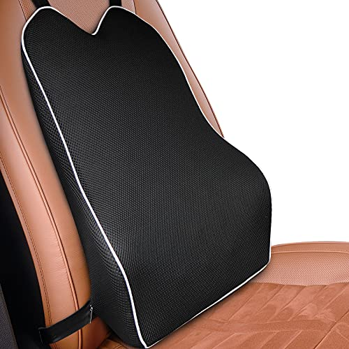 Car Lumbar Support for Car Seat Driver Supportive Memory Foam Back Cushion Back Support for Car/Office Chairs