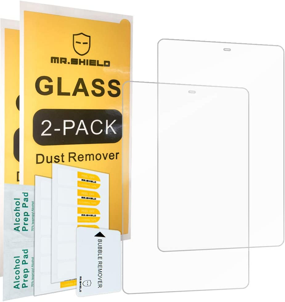 [2-PACK]-Mr.Shield Designed For Samsung Galaxy Tab A 10.5 2018 SM-T590 / Galaxy Tab A2 10.5 [Tempered Glass] Screen Protector [0.3mm Ultra Thin 9H Hardness 2.5D Round Edge] with Lifetime Replacement