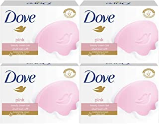 Dove Moisturising Beauty Cream Bar Soap Pink, 135g - (Pack of 4)